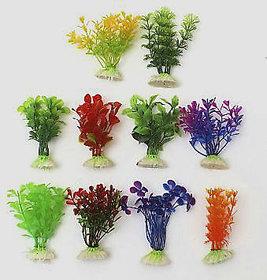 Fish Tank Aquarium Decoration Green Artificial Plastic Underwater Flower Plant