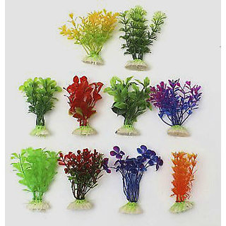 Fish Tank Aquarium Decoration Green Artificial Plastic Underwater Flower Plant