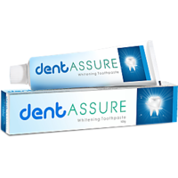 DENT ASSURE WHITENING TOOTHPASTE 90GM PACK OF 2