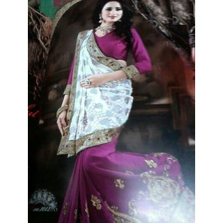 Beautiful fancy sarees with computer work