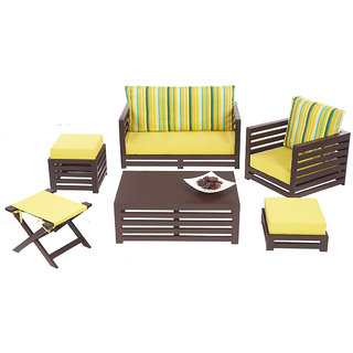 Arra Jinjer Contemporary Sofa Set - Green Delite