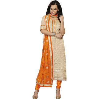 Parisha Blue Dupion Silk Embroidered Salwar Suit Dress Material