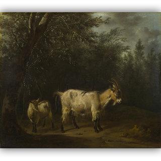 Vitalwalls A Goat And A Kid By Adriaen Van De Velde Canvas Art Print(Animal-026-45cm)