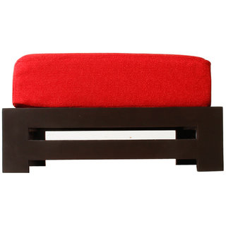 Arra Jinjer Contemporary Low Stool - Red