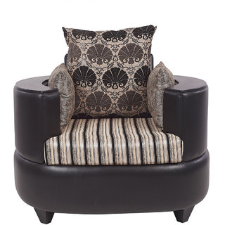 Arra Polar 1 Seater Sofa Black