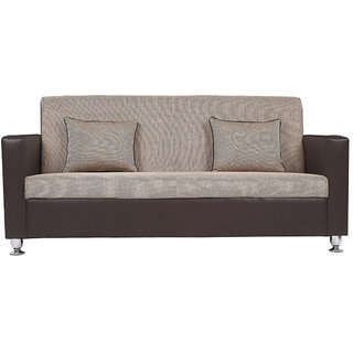 Arra Vivid 3 Seater Sofa Brown