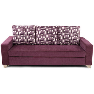 Arra Lexus Sofa Set Purple 3+1+1 Purple