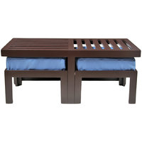 Arra Trendy Coffee Table With Two Stools - Blue
