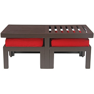 Arra Trendy Coffee Table With Two Stools Red Buy Arra Trendy Coffee Table With Two Stools