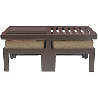 Arra Trendy Coffee Table With Two Stools Jute Buy Arra Trendy Coffee Table With Two Stools