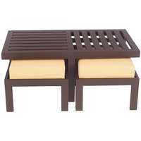 Arra Trendy Coffee Table With Two Stools - Light Brown