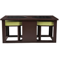 Arra Attractive Coffee Table Cushioned Stools - Green
