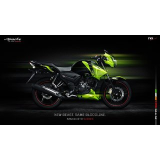 Booking Amount for TVS Apache RTR 160 + Free Accessories Kit worth Rs 4000