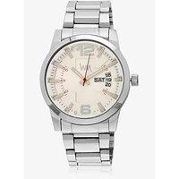 Lawman Pg3 White Dial Watch For Men LW7004C