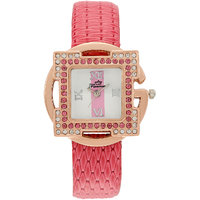 Florence FL-PK-GLD-F-071 Gold Dial Analog Watch For Women