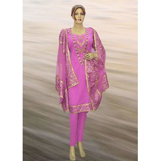 Georgette  suit with dupta