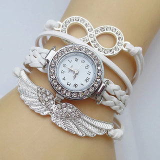 Addic Fashion Angels Wings Lucky Charm Bracelet Watch for Women! (Wristwatch)  WW015