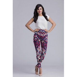 Toscee Digital Printed Multicolor Aztec Leggings