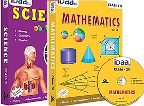 Class 10 CBSE CDs Maths  Science Combo with Solutions as per NCERT Text Book