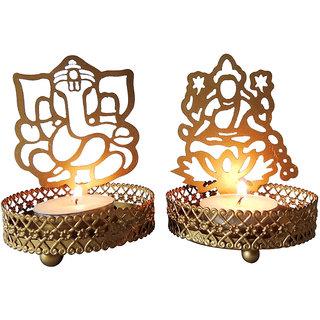 Laksmi and Ganesha Tea candle Holder
