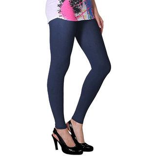 Dark Blue Full Length Cotton Lycra Leggings