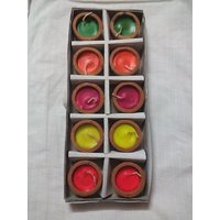 Terracotta Candles (Pack Of 10) By Kapoor Creations