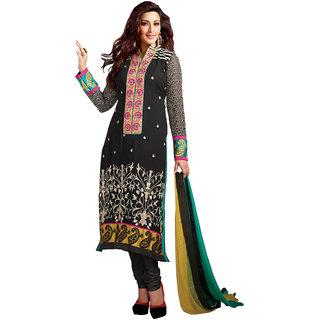 Gerbera Designer Amazing Georgette Black Designer Salwar Suit