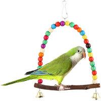 Bell Swing Bird Toy Parrot Toys Cages Parakeet Cockatiel Lovebird Budgie