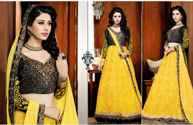 Parisha Foxy Latest Collection Of Anarkali Suits In Soft Net & Velevt