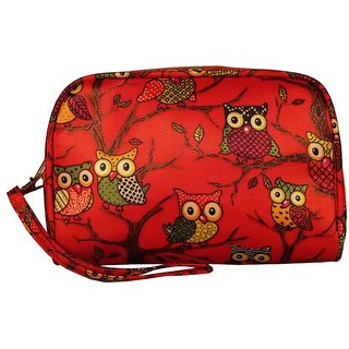 Cappuccino Red Cosmetic Pouch