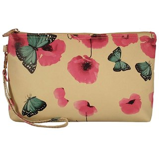 Cappuccino Ivory Cosmetic Pouch