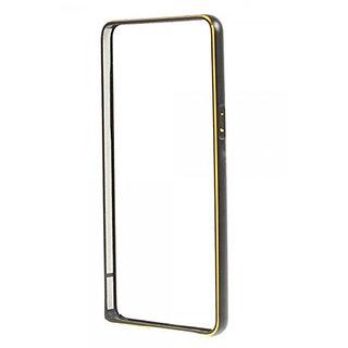 KMS Dual Tone Circular Edge Shaped Metal Bumper Case for Samsung Galaxy J5-Black