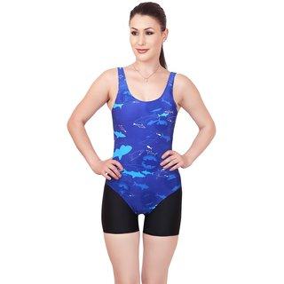 Enkay ladies 2pc swimwear (v-shape printed top with plain cycling shorts)
