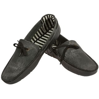 Shoe Mafia Black Boat Shoes