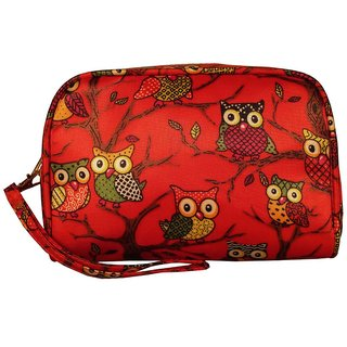 Cappuccino Stylish Red Cosmetic Pouch