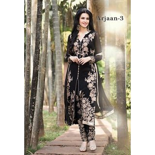 Arjaan Black Churudar Salvar Suit By Harrow Villa
