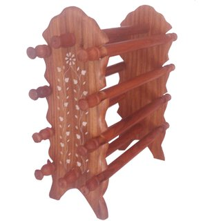 Wooden Bangle Stand by Desi Karigar
