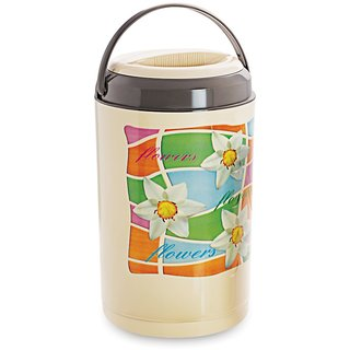 Cello Cosmos Insulated Lunch Carrier with 5 Container, Brown