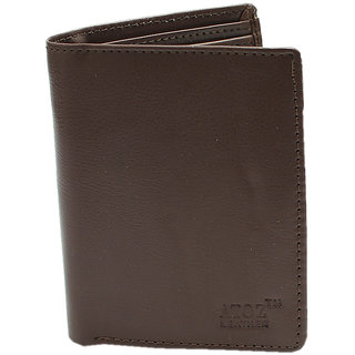 Rocket Market Brown Color Formal Bifold Wallet