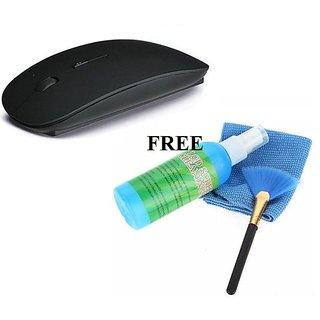 2.4GH Ultra Slim Wireless Mouse + Laptop Desktop Monitor Screen cleaner