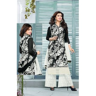 Ayesha Takia Ennaya Black And White salvar suit