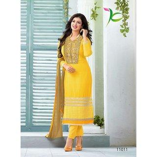 Ayesha Takia Ennaya Yellow salvar suit