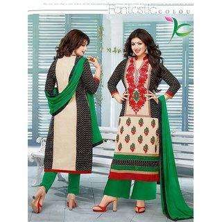 Ayesha Takia Ennaya Black And Green Multi color salvar suit