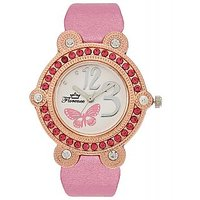 Florence FL-PK-GLD-F-073 Gold Dial Analog Watch For Women