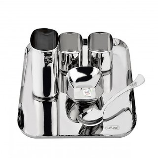 Tuff Line Stainless Steel 6 pc Square  Dinner Set