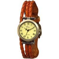 The Pink Vintage Orange Wrist Watch By Gledati