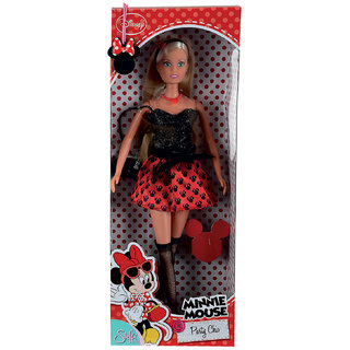 Simba- Disney Minnnie Mouse Steffi Love Party Chic Doll(1)