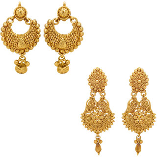 Donna Combo Of Festive Delight Gold Plated Earrings (CO1104337G)