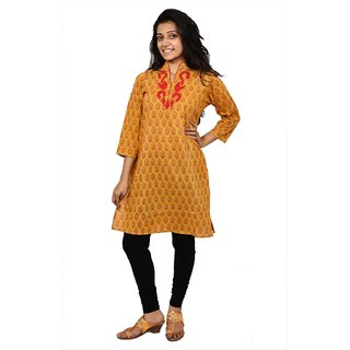Long Kurtawith Applique Work