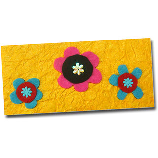 Designer 3 Feld flowers Money gifting Envelopes Handmade Lifafa